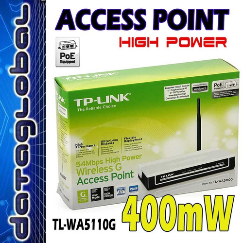 access point tp-link tl-wa5110g 54m poe high power / 5110