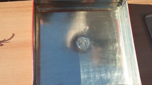 antigua caja lata galletas hucke  surtido trianon colección