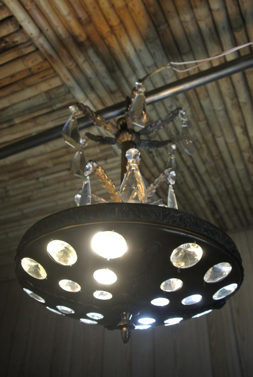 Antigua lampara bronce y cristal en mercado libre - Lamparas cristal antiguas ...