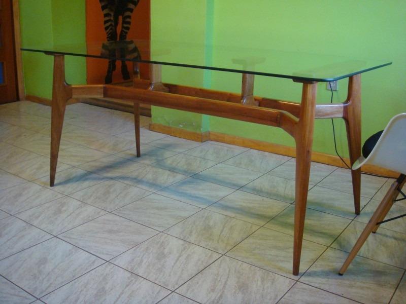 Mesa comedor antigua escandinava retro sonica rauli vidrio for Mesa comedor vidrio