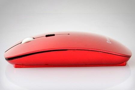 mouse inalambrico 2.4 ghz estilizado pc-mac color burdeo