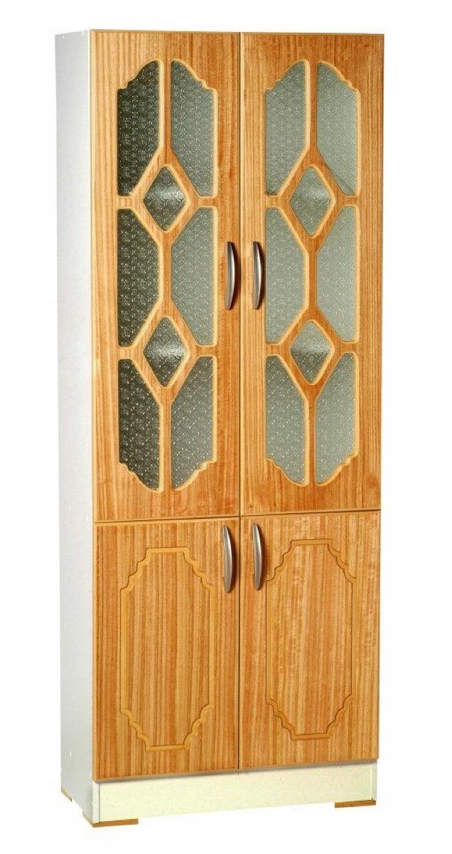 Mueble de cocina vitrial y despensa color madera y blanco - Mueble despensa cocina ...