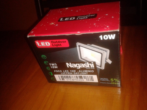 remate foco led 10w nagashi japon