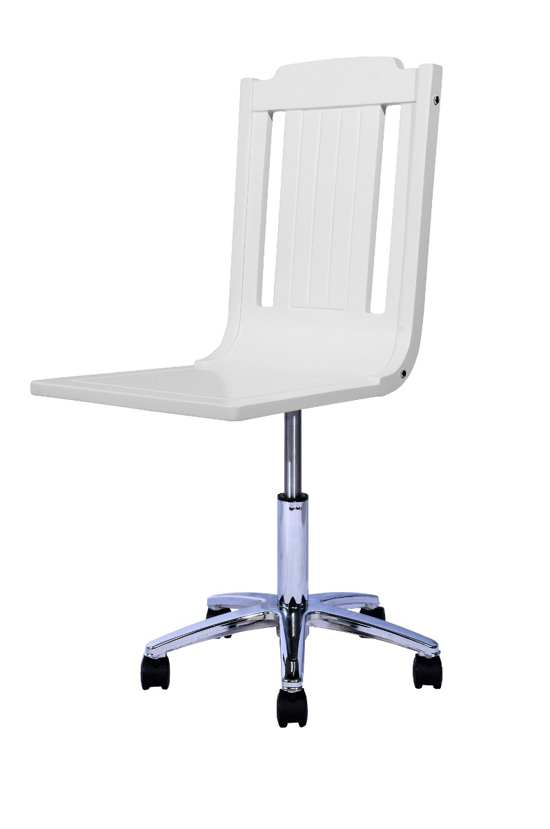 Silla escritorio blanca lacada en mercado libre for Precio silla escritorio